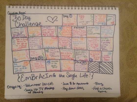 Embracing the Single Life - 30 Day Challenge
